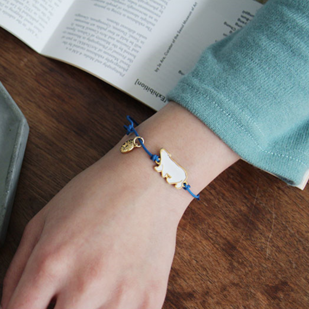 polar bear bracelet handmade jewelry