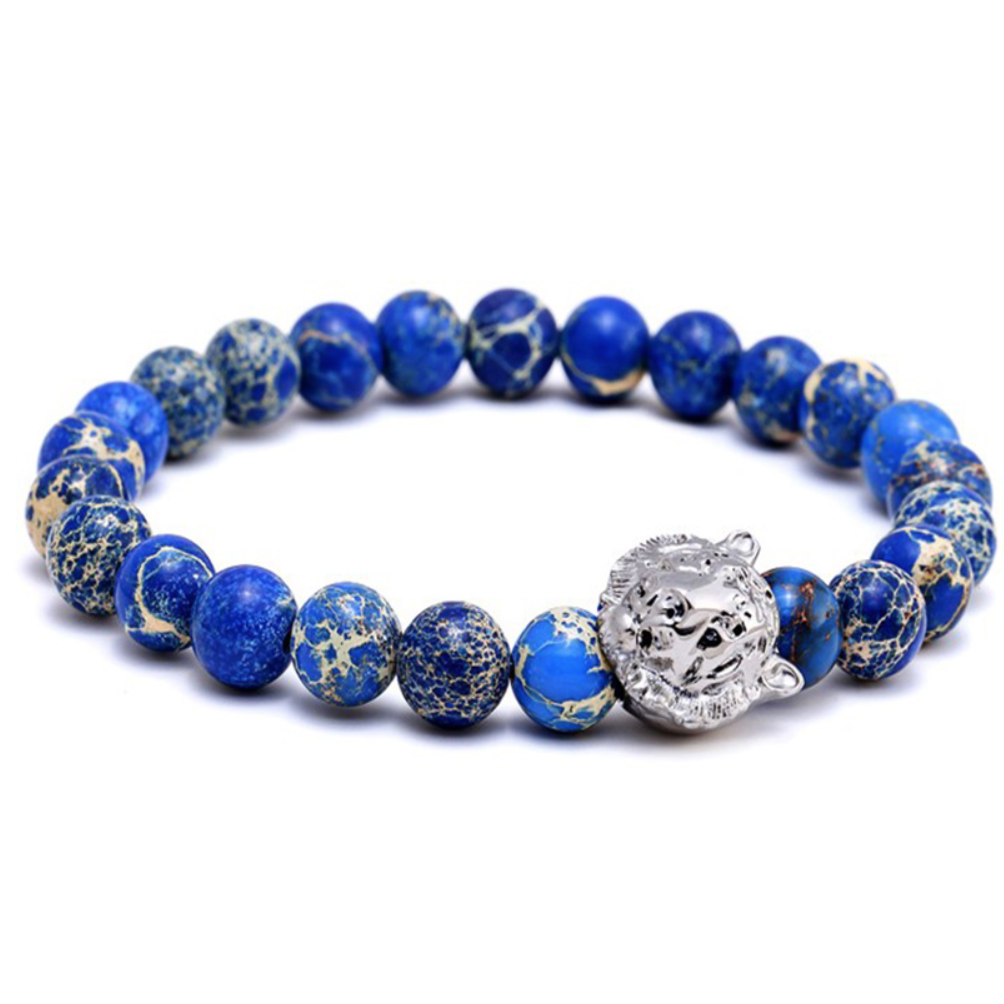 beads bracelet tiger jewelry natural stones