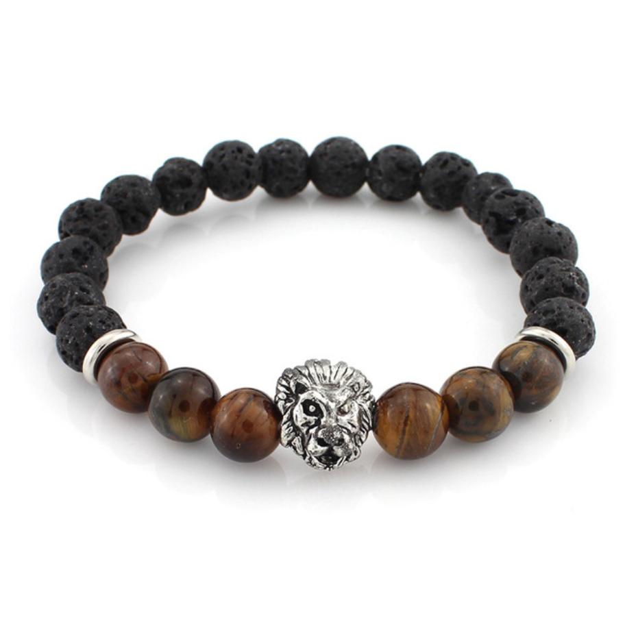 beads bracelet lion jewelry natural stones