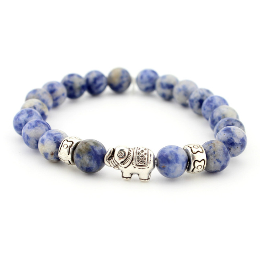 beads bracelet elephant jewelry natural stones
