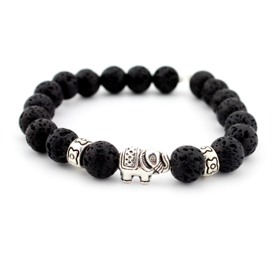 beads bracelet elephant jewelry natural stones