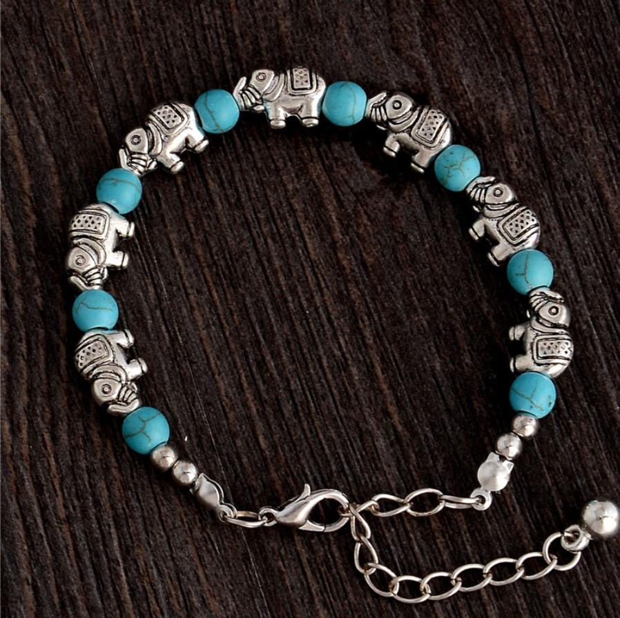 beads bracelet elephants jewelry natural stones