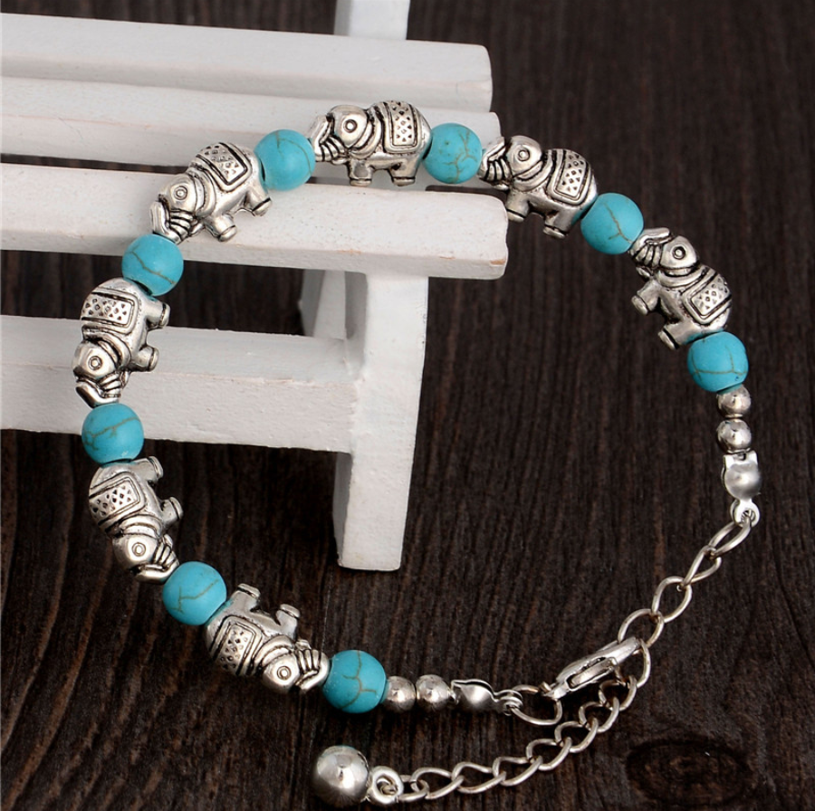 beads bracelet elephants jewelry natural stones
