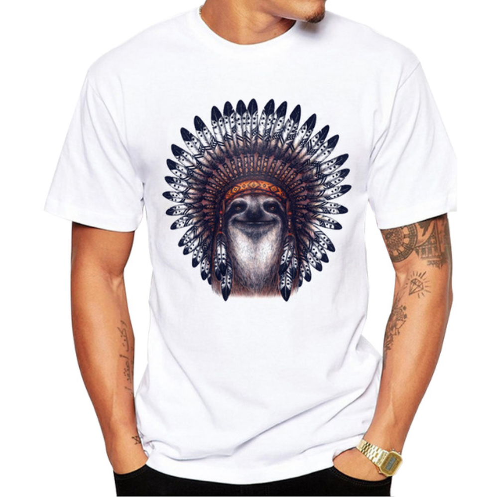 sloth tshirt indian specie t-shirt