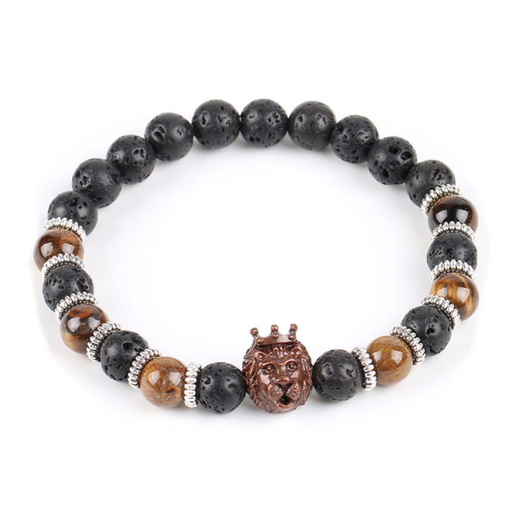 beaded beads bracelet lion jewelry