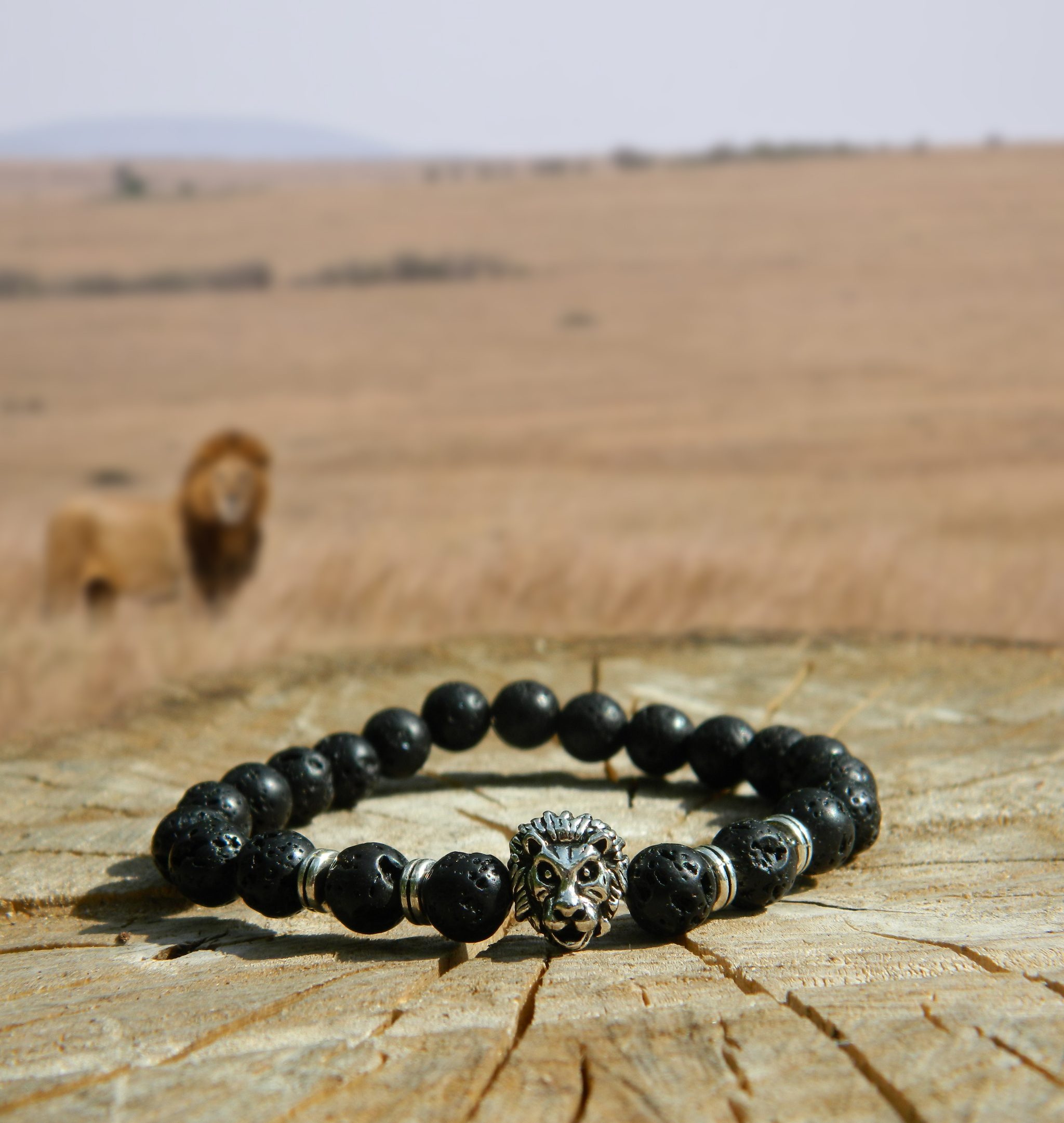support lions bracelet endangered bead