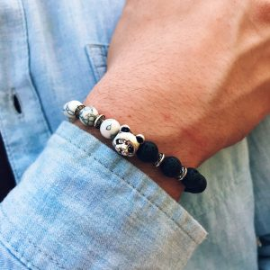 support pandas bracelet endangered bead