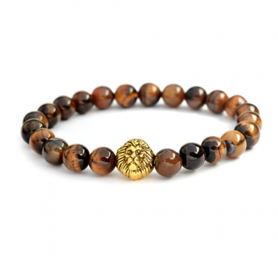 king africa lion bracelet natural beads